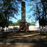 мкр. Аджимушкай, братская могила возле школы